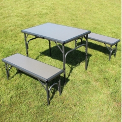 outdoor revolution table and bench set